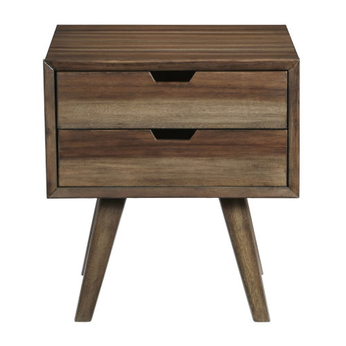 Bungalow Caramel End Table with Drawers