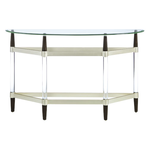 Michigan Ave Brushed Nickel Console Table