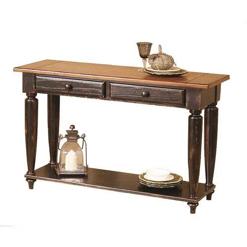 Progressive Furniture Country Vista Antique Black Sofa Table 44542