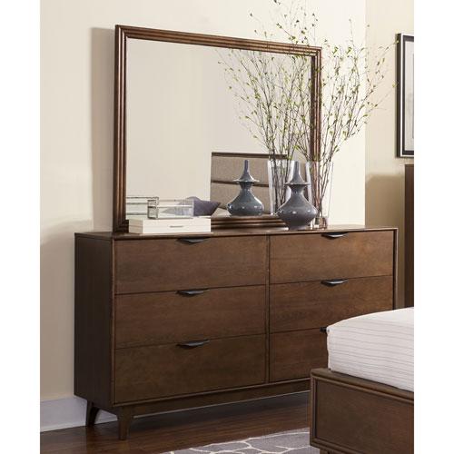 Mid-Mod Drawer Dresser and Mirror