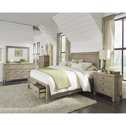 Coronado Flax Complete Queen Storage Bed