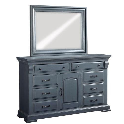 Everly Slate Door Dresser and Mirror