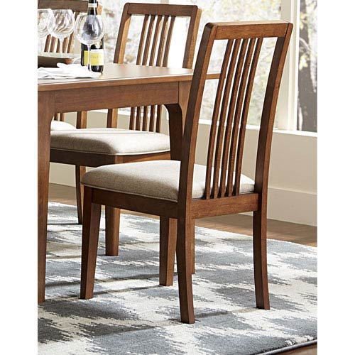 Mid-Mod Tallback Upholstered Dining Chairs, Set of 2
