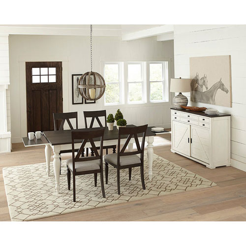 Postiano Walnut and White Dining Table