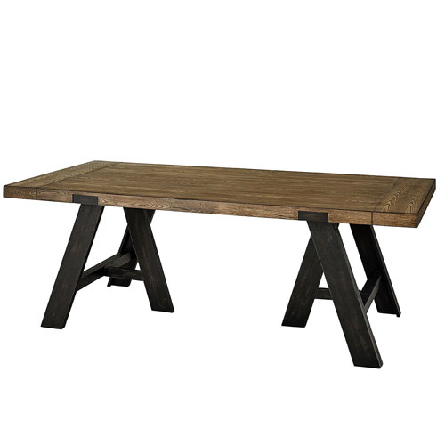 Klondike Sandalwood and Black Dining Table