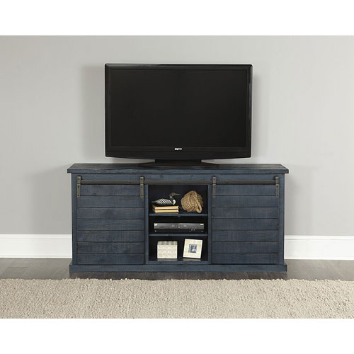 Huntington Distressed Navy 64 Inch Console