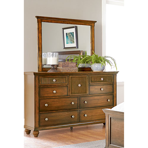 Cotswold Grove Drawer Dresser and Mirror