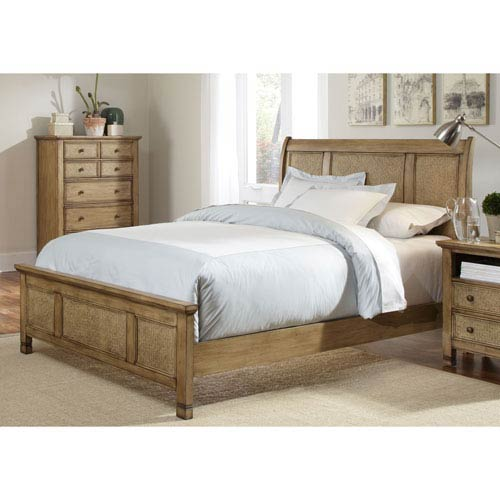 Kingston Isle Queen Sleigh Complete Bed