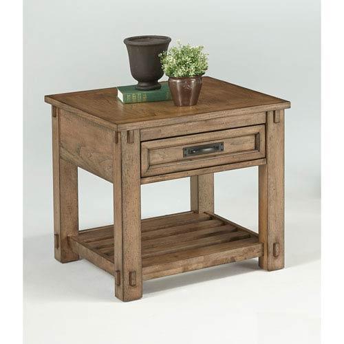 Progressive Furniture Boulder Creek Square Lamp Table