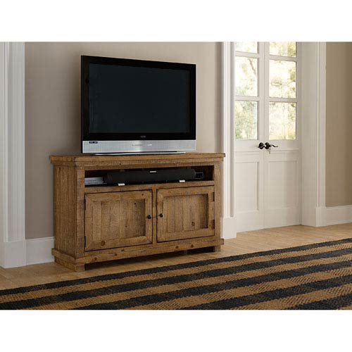 Progressive Furniture Willow Distressed Pine 54-Inch Console
