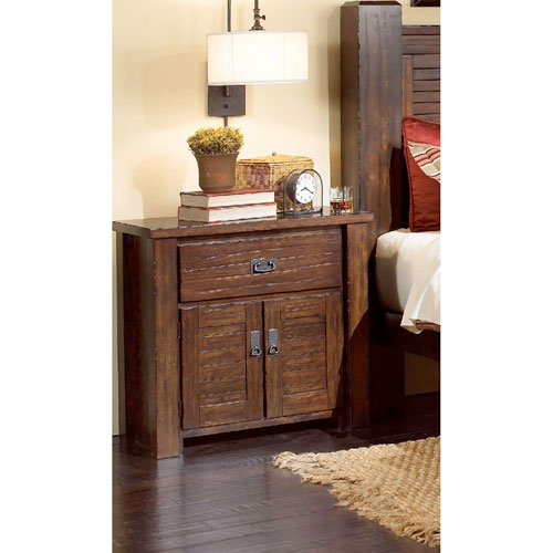 Progressive Furniture Trestlewood Mesquite Pine Nightstand