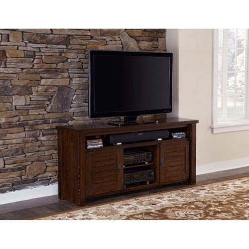 Progressive Furniture Trestlewood Mesquite Pine 64-Inch Console
