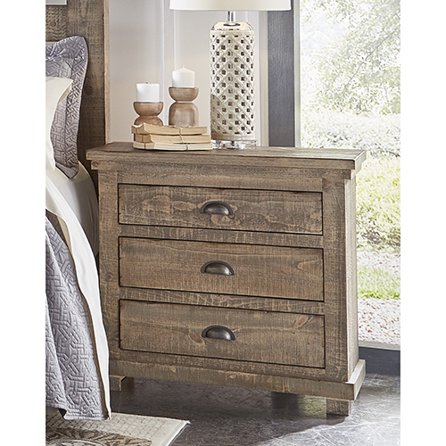 Progressive Furniture Willow Weathered Gray Nightstand