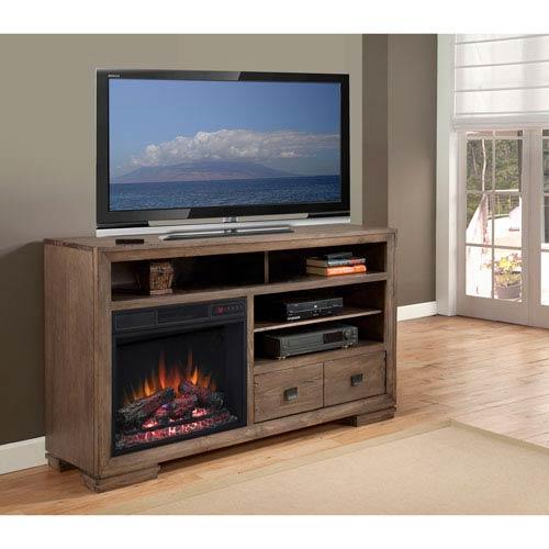 Progressive Furniture Mulholland 60 Inch Console/Fireplace