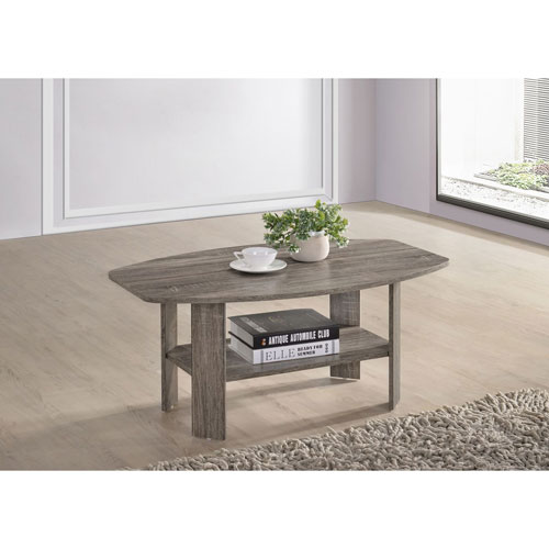 Progressive Furniture Chip Darker Taupe Cocktail Table