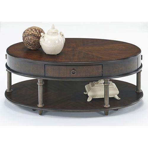 Regent Cherry Castered Oval Cocktail Table