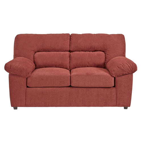 Progressive Furniture Duke Red Chenille Loveseat