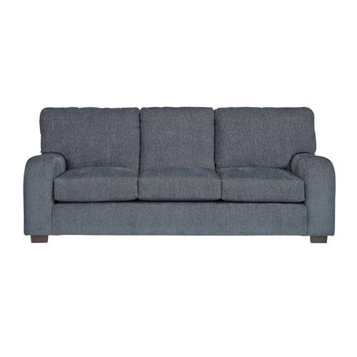 Nora Grayish Blue Chenille Sofa