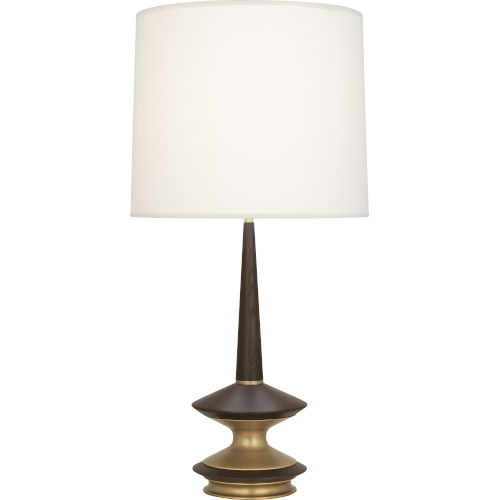 Fletcher Warm Brass One-Light Table Lamp With Fondine Fabric Shade