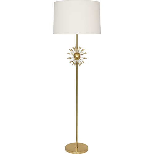 Robert Abbey Andromeda Modern Brass with Clear Acrylic Accents 62-Inch One-Light Floor Lamp