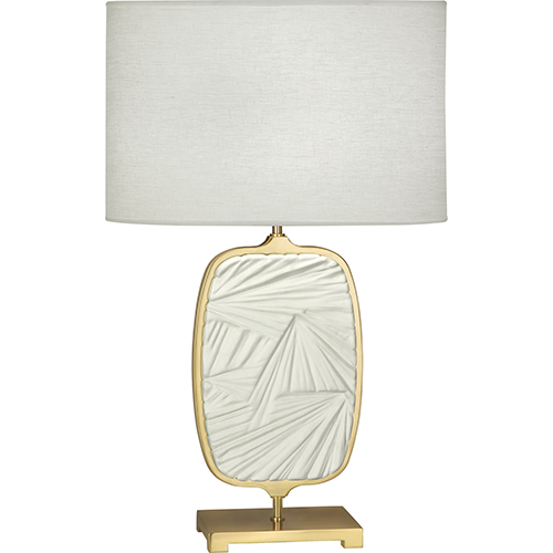 Robert Abbey Michael Berman Flynn Modern Brass with Flat Lily Accent 28-Inch One-Light Table Lamp