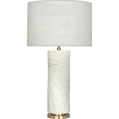 Robert Abbey Michael Berman Lucien Flat Lily with Modern Brass Accents 30-Inch One-Light Table Lamp