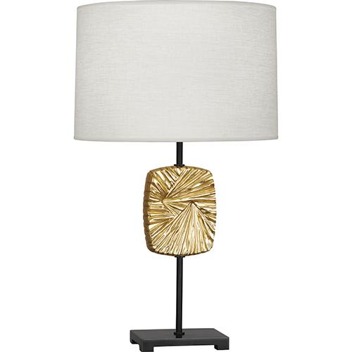 Robert Abbey Michael Berman Alberto Deep Patina Bronze with Modern Brass Accents 27-Inch One-Light Table Lamp