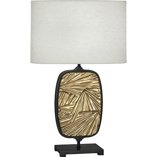 Robert Abbey Michael Berman Flynn Deep Patina Bronze with Modern Brass Accents 28-Inch One-Light Table Lamp
