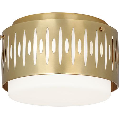 Robert Abbey Treble Modern Brass  12-Inch Three-Light Flushmount