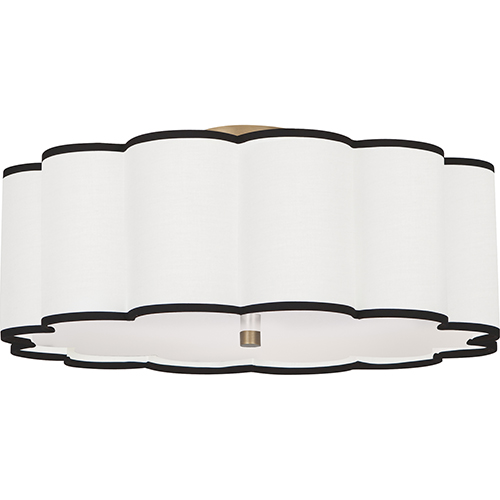 Axis Aged Brass  24-Inch Four-Light Flushmount
