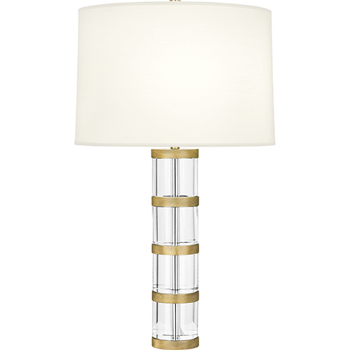 Wyatt Clear Crystal and Modern Brass 29-Inch One-Light Table Lamp