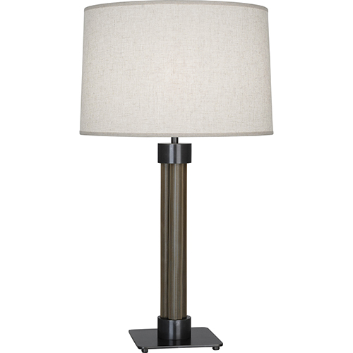 Robert Abbey Todd Deep Patina Bronze with Brass Mesh Accents 30-Inch One-Light Table Lamp