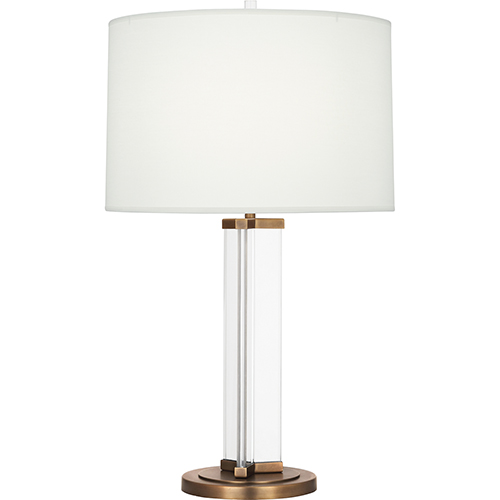 Robert Abbey Fineas Clear Glass and Aged Brass 29-Inch One-Light Table Lamp