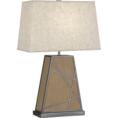 Michael Berman Bond Driftwood Oak Wood One-Light Table Lamp