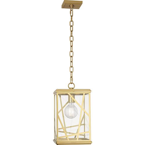Michael Berman Bond Modern Brass Nine-Inch One-Light Mini Pendant