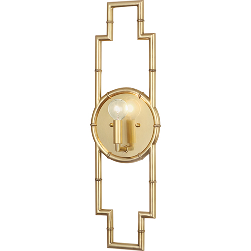 Robert Abbey Jonathan Adler Meurice Modern Brass  Seven-Inch One-Light Wall Sconce