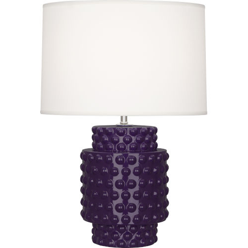 Dolly Amethyst Glazed Textured Ceramic One-Light Accent Lamp