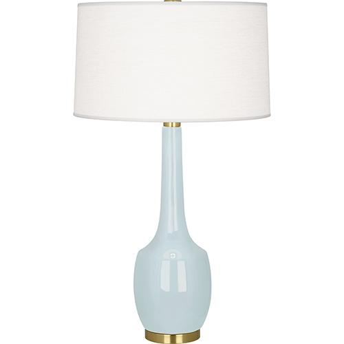 Robert Abbey Delilah Baby Blue Glazed Ceramic 34-Inch One-Light Table Lamp