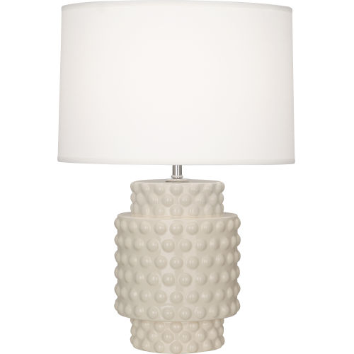 Dolly Bone Glazed Textured One-Light Accent Lamp