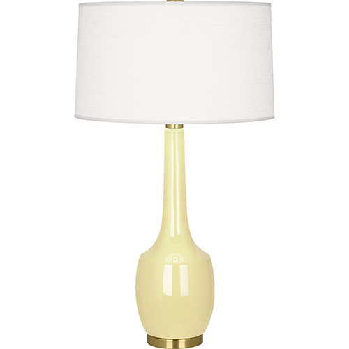 Delilah Butter Glazed Ceramic 34-Inch One-Light Table Lamp