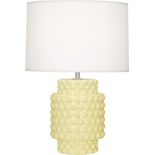 Dolly Butter Glazed Textured One-Light Accent Lamp