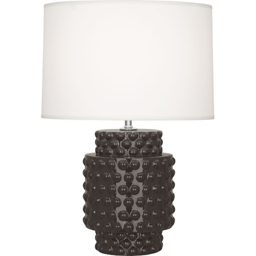 Dolly Coffee Glazed Textured Ceramic One-Light Accent Lamp