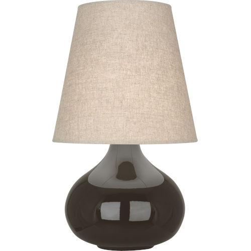 June Coffee Glazed Ceramic One-Light Accent Lamp