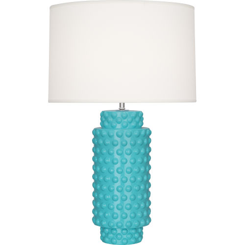 Dolly Egg Blue Glazed One-Light Table Lamp