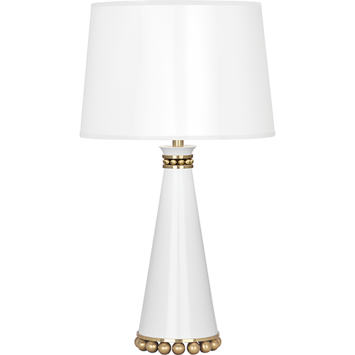 Robert Abbey Pearl Lily Lacquered Paint with Modern Brass Accents 20-Inch One-Light Table Lamp