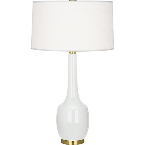 Delilah Lily Glazed Ceramic 34-Inch One-Light Table Lamp