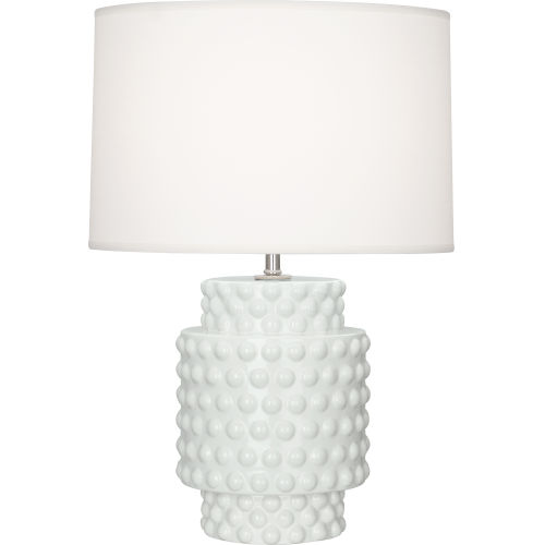 Robert Abbey Dolly Lily Glazed Textured Ceramic 21-Inch One-Light Table Lamp