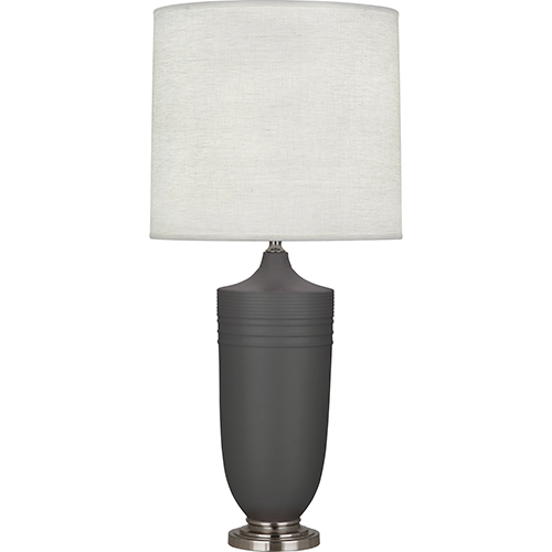 Robert Abbey Michael Berman Hadrian Matte Ash Glazed Ceramic with Dark Antique Nickel Accents 29-Inch One-Light Table Lamp