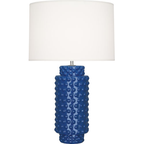Dolly Marine Blue Glazed Textured Ceramic One-Light Table Lamp