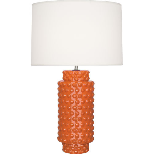 Dolly Pumpkin Glazed Textured Ceramic One-Light Table Lamp